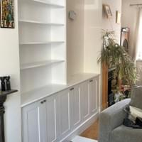 Alcove storage and bookcase