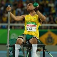 Australian Paralympian Jessee Wyatt throwing in his pair of Dynamic GRAFO.