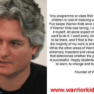 Tim Tipene on Warrior Kids Fun.