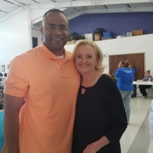 Beverly Powell and Congressman Marc Veasey at the Tarrant County Democratic Woman's Club