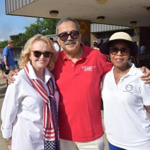 Beverly Powell and Commissioner Roy Charles Brooks at the Como 4th of July Parade