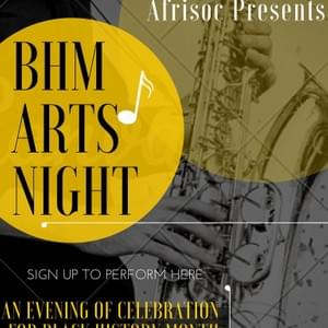 Black History Month Arts Night Poster