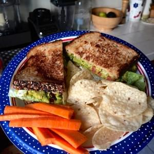 Chickpea & Avocado Salad Sandwich