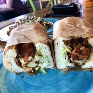 Finally made it to Krimsey's Cajun Kitchen, a vegan restaurant in North Hollywood, CA. I had the New Orleans Poboy, and OMG it was AMAZINGLY good!!! Don't sleep on this spot...