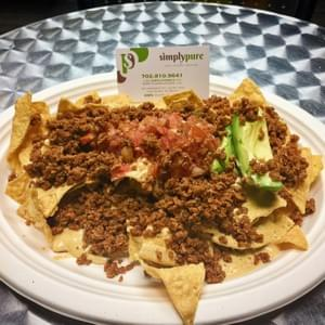 If you're ever out in Vegas, make sure to stop by black-owned vegan restaurant, Simply Pure, and try the vegan nachos... they were the BOMB!!!