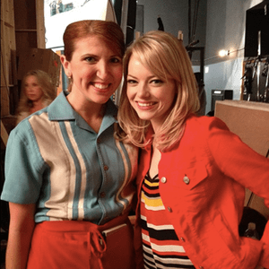 With Emma Stone while taping 'iCarly""