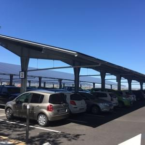 Ombrière de parking - 1MWc - Aéroport de Rivesaltes (66)