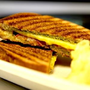 Grilled Cheese with Tomato & Pesto Panini