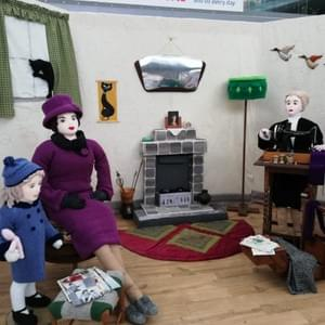 Penelope and her daughter Margaret Rose in Dorothy's 1950's front room.
