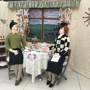 Madam Petal  with Miss Purl