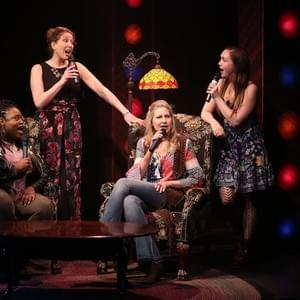 "Alyson Kaye Daniel, Courtney Balan, Luba Mason, and Celeste Rose in the Off Broadway production of  ""Unexpected Joy"" at the York Theatre."