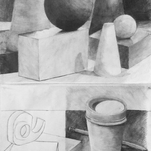 Shape & Shade Studies in Pencil