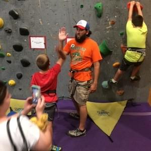experiencing success - at ABC Kids Climbing in Boulder, FUNdamental