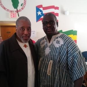Kendrick poses with Dr. James Turner at a celebration at Ujamaa at Cornell University.