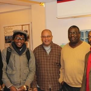 Kendrick hanging out with Rob Stephens, Jeremey Vinson, DeForest Raphael, and Rev. James.