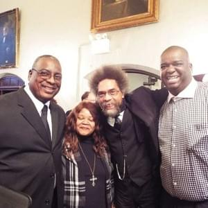 Kendrick with his brother Michael, sister-in-law Evelyn, and Dr. Cornel West.