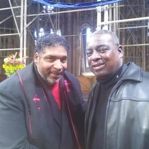 Kendrick with Rev. William Barber II, leader of the Moral Mondays Movement.
