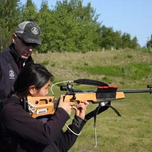 US Olympic biathlete Glenn Jobe lent instruction to Nome Nordic and WISA athletes at a 2015 summer camp at Kincaid Park in Anchorage.