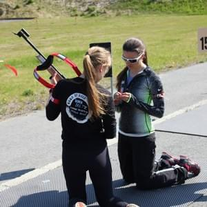 Two-time US Olympic biathlete Sara Studabaker (Hall) has helped Nome Nordic and WISA athletes at Kincaid Park and at her home range in Park City, Utah