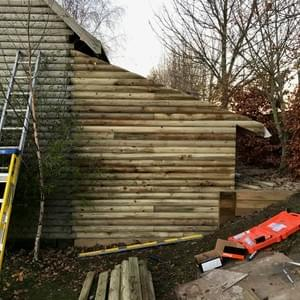 Tree House Extension - Work completed