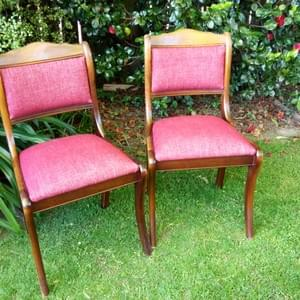6 dining chairs - Warwick Garnet