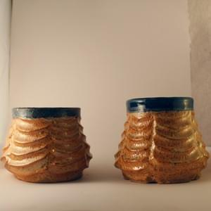 Carved Shino Tumblers