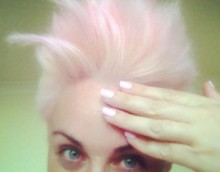 Matching nails to hair. Natalie D'Alessandro
