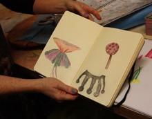 2012/ 2013  Music Garden sketchbook