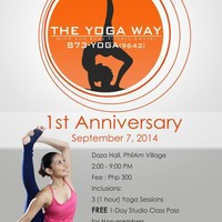 The Yoga Way 1st Year Anniversary, Las Pinas, Sept. 7, 2014