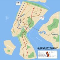 QUeens City Subway Map