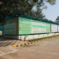 Front elevation of the Waste Treatment Facility at New Moti Bagh