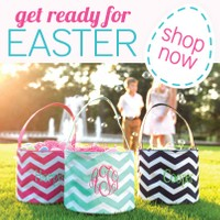 Personalized Easter baskets for the kids by Mbelleish