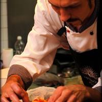 Chef Goran Hlišć preparing couvert