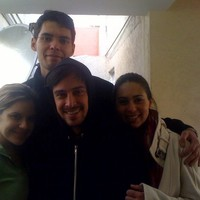 "The cast of ""Couchsurf"" : Denitza, Ignacio, Valeria and me."