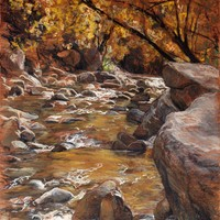 Little Cottonwood Creek in October - sold