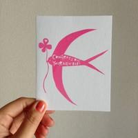 出産祝いカード ピンク