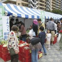 地元農業祭に模擬店や青空市を出店