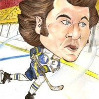 Gilbert Perreault Buffalo Sabres NHL Caricature