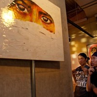 "me & shing02 in my exhibition ""RE"" @ NOS"