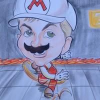 Super Mario Bro's Nintendo Caricature