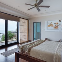 Luxury bedroom with privacy and ocean views for rent in South Bali