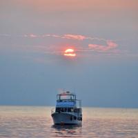 Sonnenuntergang im Hafen von Novigrad