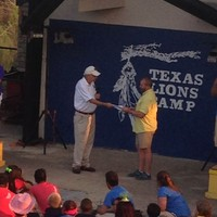 Bellville Lions presenting $10,000 donation to Texas Lions Camp!