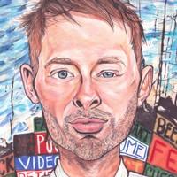 Thom Yorke Radiohead Caricature