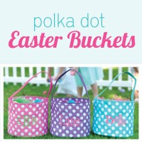 Personalized polka dot Easter baskets