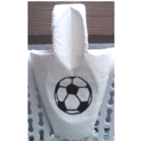 custom design back support - soccer ball