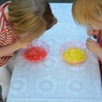 Verven met gekleurde bubbels