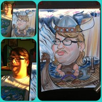 Full Color  Body Scene Viking Caricature