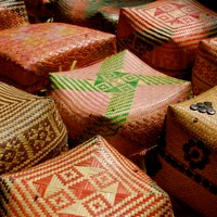 Traditional offering baskets of Bali