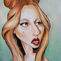Lady Gaga Caricature